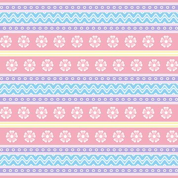 Easter Floral Pattern B by MelFischer
