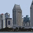 Lining San Diego Bay by KirtTisdale