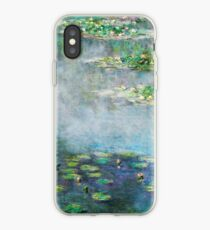 1906 Water Lilies oil on canvas.  Famous vintage fine art by Claude Monet. iPhone Case