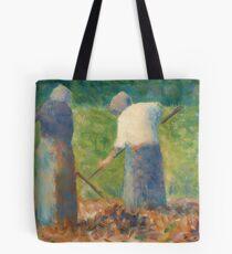 Georges Seurat, Haymakers at Montfermeil, 1882 Painting Tote Bag