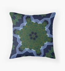 Peas and Ice Pedals Circle Design Offering at Green Bee Mee Throw Pillow