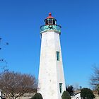 Old Point Comfort Lighthouse by searchlight