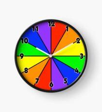 Plain Jack/Jane Pride Flag Clock