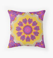 Purple Pedals 3D in the Sun Design Offering at Green Bee Mee Throw Pillow