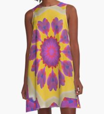 Purple Pedals 3D in the Sun Design Offering at Green Bee Mee A-Line Dress