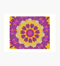 Purple Pedals 3D in the Sun Design Offering at Green Bee Mee Art Print