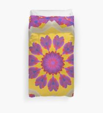 Purple Pedals 3D in the Sun Design Offering at Green Bee Mee Duvet Cover