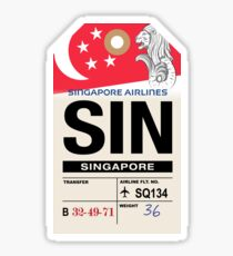 Singapore (SIN) Airline Luggage Tag Sticker