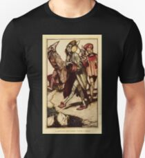Gulliver's Travels by Jonathan Swift art Arthur Rackham 1899 0193 A Lilliputian Gentleman Taking a Walk Unisex T-Shirt