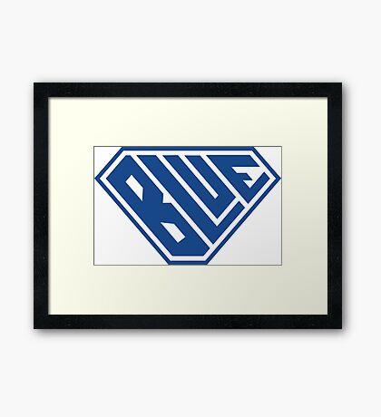 Blue SuperEmpowered (Blue) Framed Art Print