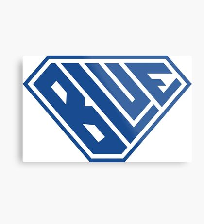 Blue SuperEmpowered (Blue) Metal Print