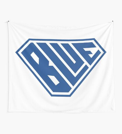 Blue SuperEmpowered (Blue) Wall Tapestry