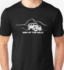 'King of the Hills' Jeep Wrangler 4x4 Sticker T-Shirt Design - White T-Shirt