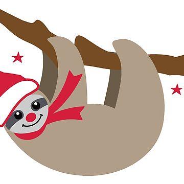 Merry Christmas Sloth by Pferdefreundin