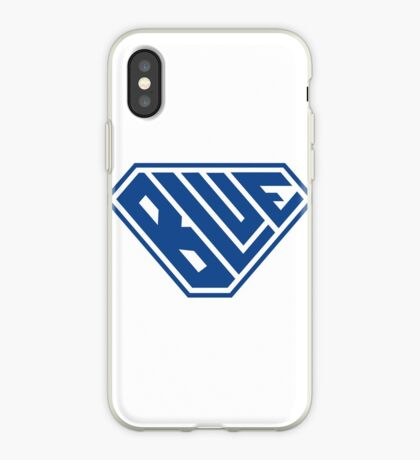 Blue SuperEmpowered (Blue) iPhone Case