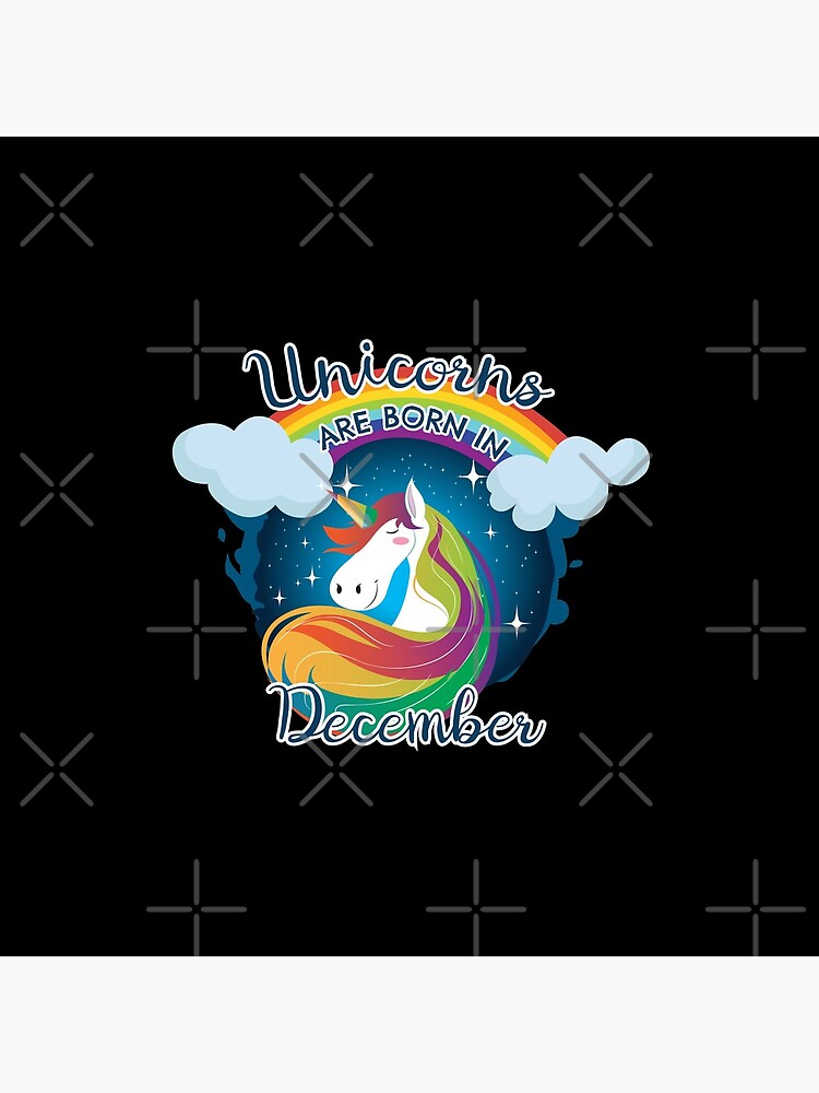 Unicorns are born in December / Einhorn by JH-Design