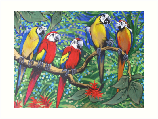 Quot Rainforest Rhythm Quot Art Prints By Sally Ford Redbubble