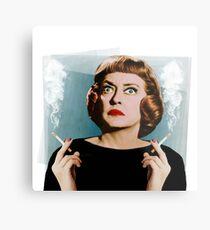 Bette Smoking Metal Print
