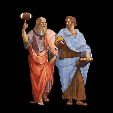 Aristotle and Plato with Football - Philosophy Gift by The-Nerd-Shirt
