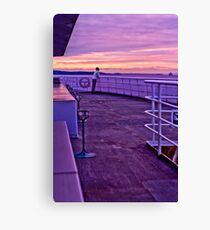 Enjoying the Sunset from a Ferry Canvas Print