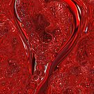 Red Abstract Heart  by Michelle BarlondSmith