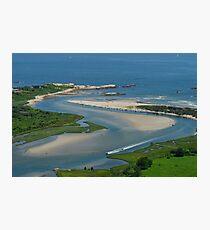 Where Narragansett Beach Ends Narrow River Begins Photographic Print