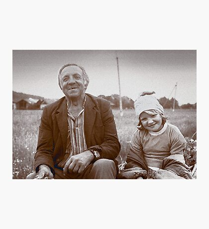 A Man and His Daughter, Ukraine II Photographic Print