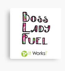 Boss Lady Fuel Lily Es funktioniert Leinwanddruck