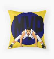 Steph Curry MVP Throw Pillow
