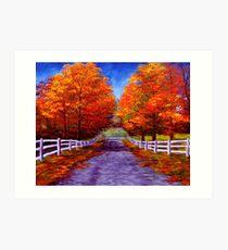 New England Autumn Drive Art Print