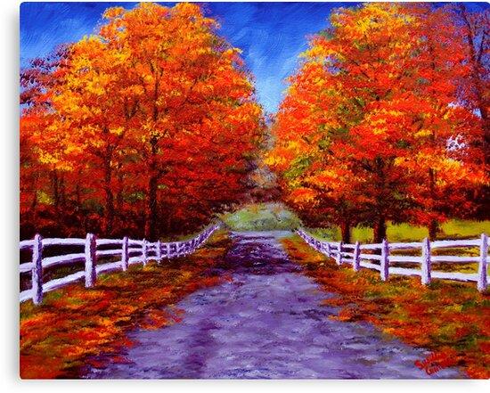 New England Autumn Drive by sesillie