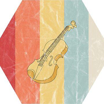 Violin Instrument Retro Vintage Gift by Rueb