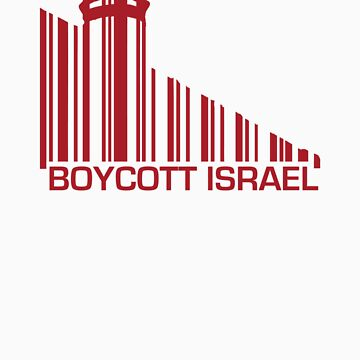 Boycott Israel (wall version) RED by vrangnarr
