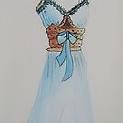 Sketch fashion design, Acrylics on Canvas, commission work available by diasha