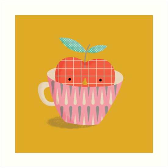 apple in a cup by silviarossana