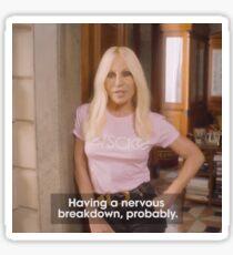 Donatella Versace is Having A Nervous Breakdown, Probably Sticker
