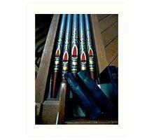 organ and hymn books Art Print