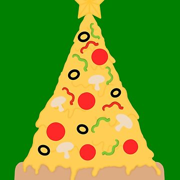 Christmas tree pizza by Smjjms