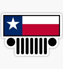 Jeep Wrangler Texas Flag Sticker