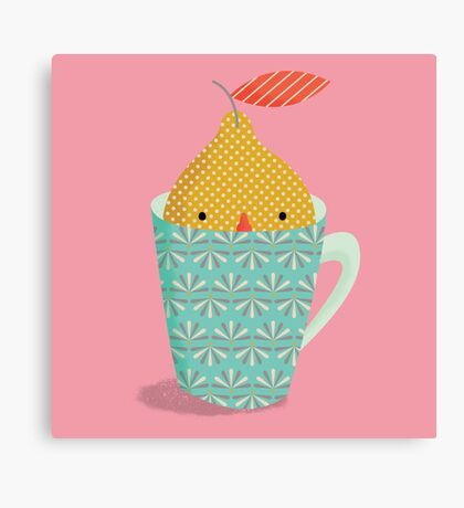 lemon in a cup Canvas Print