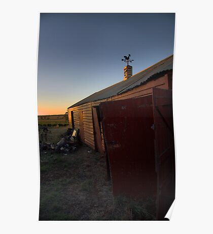 mount prior shed sunset Poster