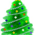 Christmas Tree with Ornaments by Kat Sanders