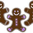 Three Gingerbread Men by Kat Sanders