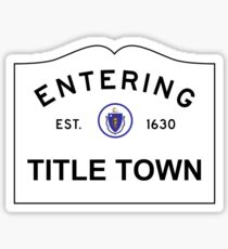 f788f9dd New England Town Stickers | Redbubble