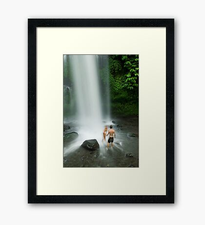 Stay still now please Framed Print