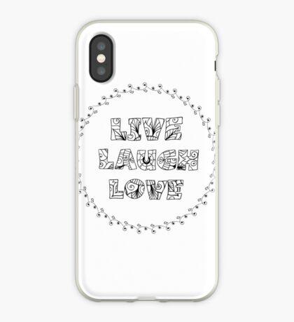 Just Add Colour - Live Laugh Love iPhone Case