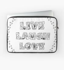 Just Add Colour - Live Laugh Love Laptop Sleeve