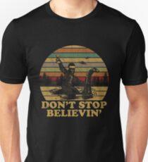 Don't Stop Believin' Santa Bigfoot Riding Loch Ness Monster Shirt Unisex T-Shirt