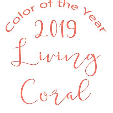 LIVING CORAL TYPOGRAPHY - AMERICAN ENGLISH - PANTONE COLOR OF THE YEAR 2019 by ozcushionstoo