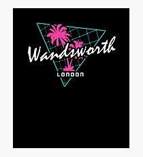 Retro 80s Neon 'Wandsworth' Vintage London Photographic Print
